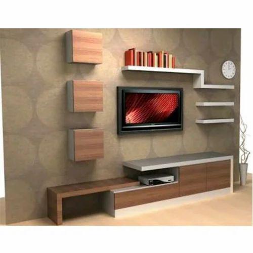 Plywood Rectangular Designer Tv Wall Unit Rs 900 Square Feet Id