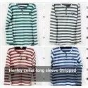 Striped Full Sleeves T Shirts
