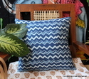 Indigo Blue Cushion Cover