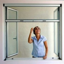 Rolling mosquito net for window