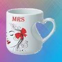 White Ceramic Love Sublimation Mug