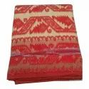Party Wear Ladies Red Tant Saree, 5.5 M, Without Blouse