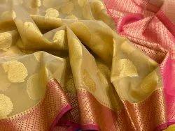 Banarasi Muslin Kora Weaving Silk Sarees
