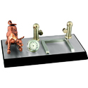 Table Pen Stand With Clock