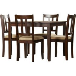 Madesos Jakin Dining Table In Teakwood With Brown-Four Seater Dining Set
