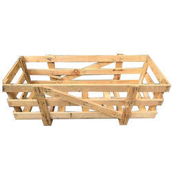 Rectangular Rubber Wood Wooden Pallet Box, For Shipping