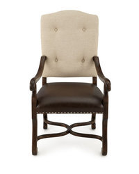 Leather Wooden Arm Chair Dining Chair, Leather Furniture