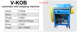 V-KOB Wire Stripping Machine