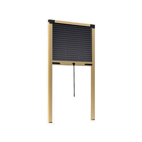 PVC Black Rectangle Mosquito Window Blinds, Thickness: 1-5 mm