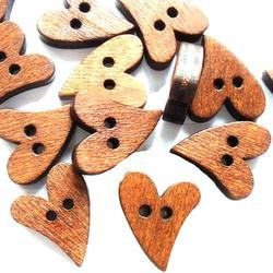 Heart Shaped Polyester Buttons