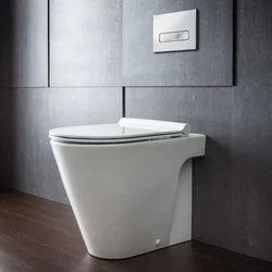 White Ceramic Western Toilet