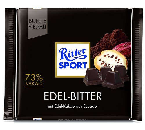 Ritter Sport Fine Extra Dark Chocolate 73% Cocoa (100g)