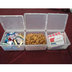 Laplast White Plastic 350 ml Square Box Set Of 3 for Household