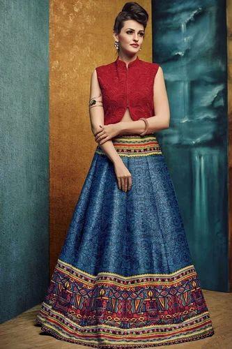 8d1b9da433 Semi-Stitched Festive Wear Indo Western Lehenga Choli, Rs 1499 ...