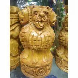 Wooden Ashoka Pen Stand Pillar