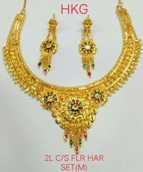 Party Wear Traditional NECKLACE MEENA, Gold Plating