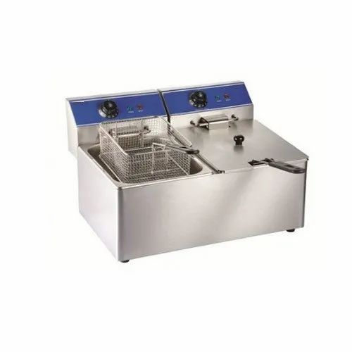 Stainless Steel Electric Two Tank Fryer