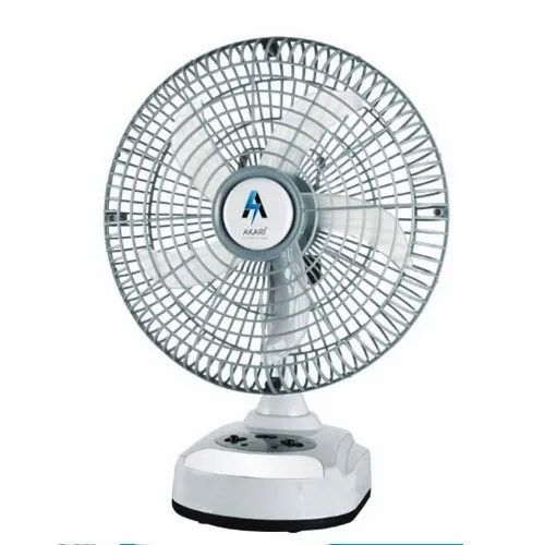 Akari Table Top Ak 8010 Rechargeable Fan With Led Light Rs 1300