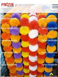 Artificial Flower Marigold Garlands