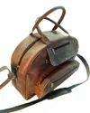 Distressed Leather Traveler Bag