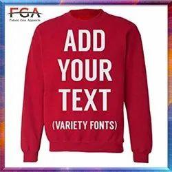 Customized Sweatshirts Full Sleeve Corporate Logo Printed