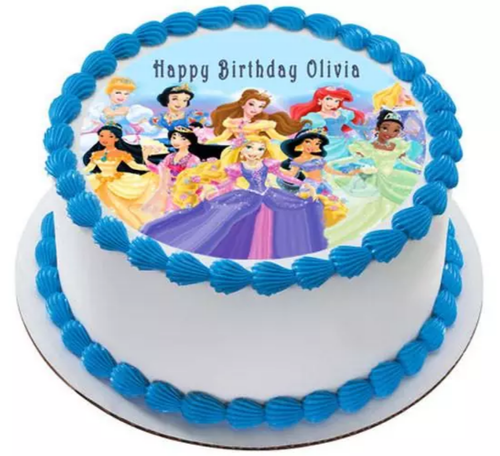 Peachy Disney Princess Photo Cake Dhruv Florist New Funny Birthday Cards Online Elaedamsfinfo