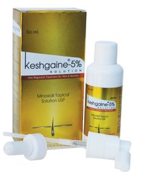 Keshgaine Minoxidil 5% Solution For Apply In Scalp, Pack Size: 60 ml