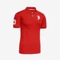 Red Half Sleeve Polo T-Shirt