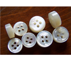 White PS Daima Engraved Buttons