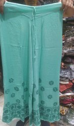 Gujral Fashion Ladies Rayon Hand Embroidery Trouser