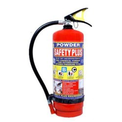 Safety Plus Mild Steel Dry Powder Fire Extinguisher for Fire Safety, Capacity: 2Kg