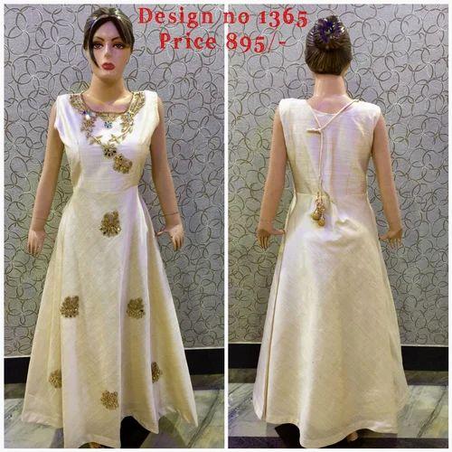 5bb0a8591c Cream Color Party Wear Sleeveless Ladies Designer Suit, Rs 895 ...