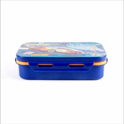 1c7ccb1c17 Plastic School Lunch Box Blue, Dhanlaxmi Enterprises | ID: 19951985455