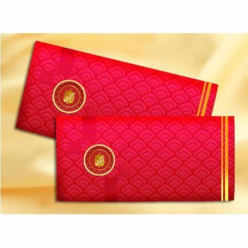 red golden fancy wedding cash envelope rs 80 packet l m