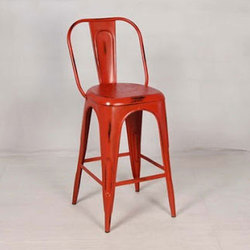 Red Iron Chair, for Cafe