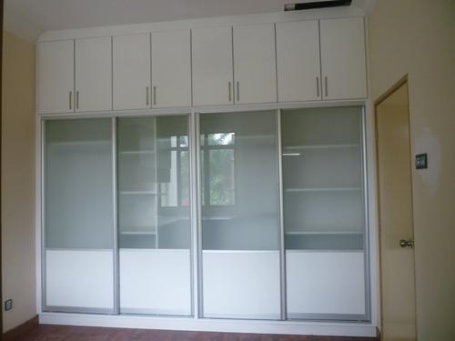 Aluminium Glass Wardrobe At Rs 250 Square Feet Glass