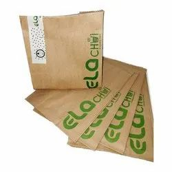 Brown Eco Printed Paper Pouch