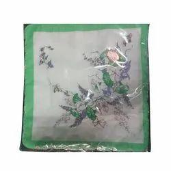 Printed Ladies Cotton Handkerchief, Size: 11 X 11 Cm