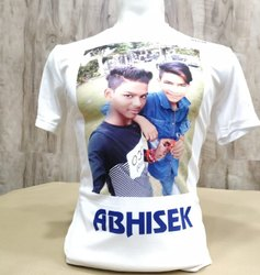 Polyster Casual Wear Photo Printed T Shirt, Size: Small To Xxl