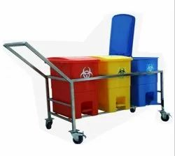 Bio Medical Waste Bin Trolley