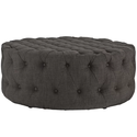 Polyester Brown Pouf