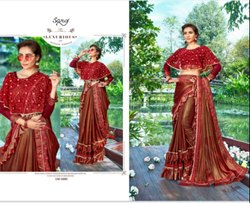 Royal Red Fancy Saree