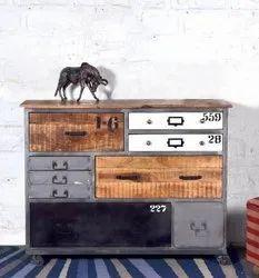 Antique Wooden Drawer Cabinet