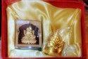 Gold Plated Laxmi Car Stand With Shreeyantra