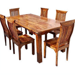 solid wood dining table wooden dining room set wooden dining set rh indiamart com solid wood kitchen table top solid wood kitchen tables made in usa
