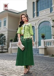Cotton 3/4th Sleeve Kiana House Of Fashion Amora Kurti with Button