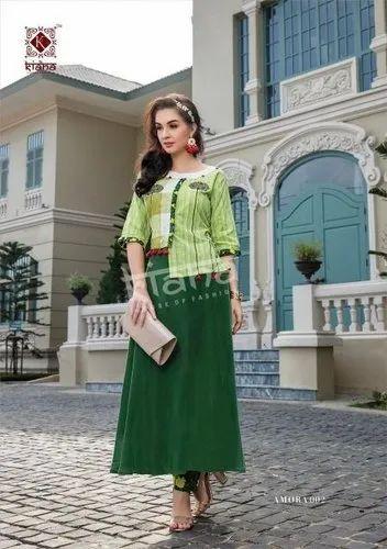 Kiana House Of Fashion Amora Kurti with Button