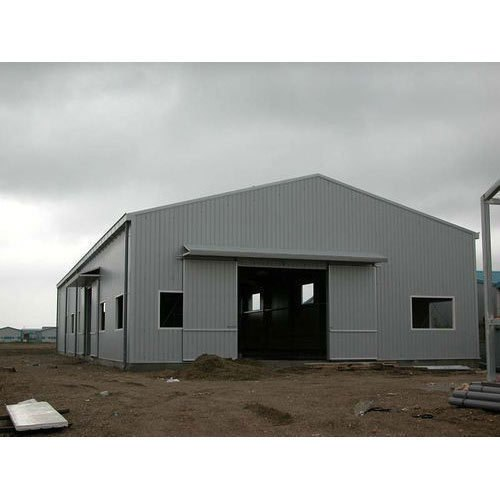 Mild Steel Modular MS Commercial Warehouse Shed