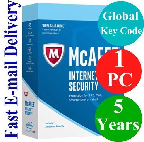 Mcafee Internet Security 5 Years 1 Pc Key