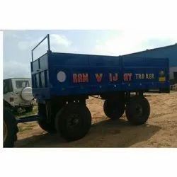 Mild Steel Four Wheeler Tractor Trolley, Capacity: 6-8 Ton